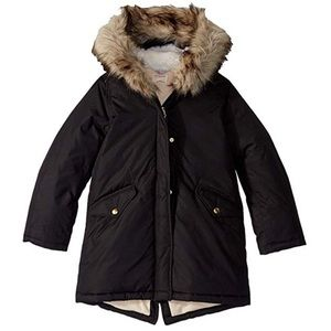 J crewcuts black fishtail parka puffer jacket